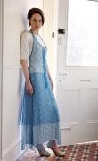 Blue net Apron and skirt S/Summer 2006