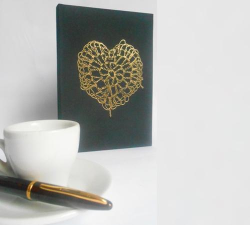 A5-Black-Gold-crochet-heart