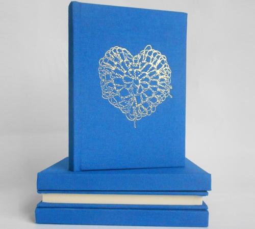 A5-Blue-Gold-crochet-heart