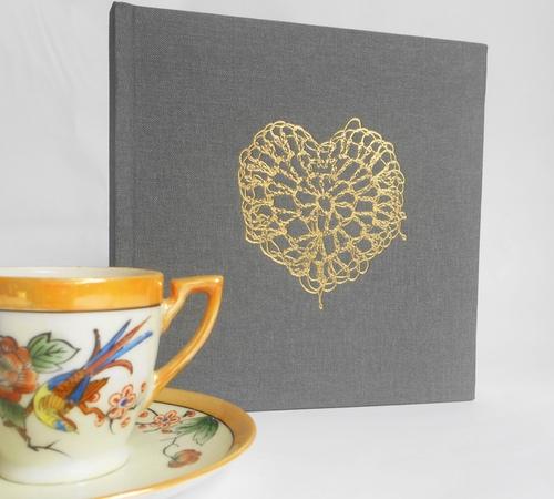 15cm-sq-Grey-Gold-Crochet-Heart