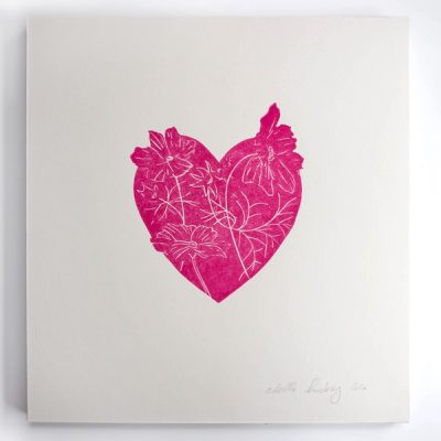9.Floral Heart Pink